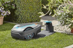 Tondeuse robot Gardena Sileno City 250 - Station de chargement